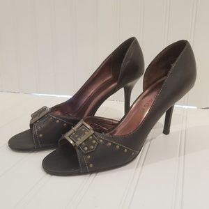 Rampage Shoes - RAMPAGE Brown Open Toe Heels - Size 8.5